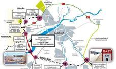 Firmado el inicio de obra del tramo de la Ronda Sur que incluye el quinto puente sobre el Guadiana