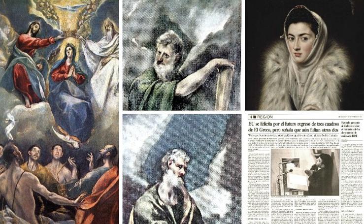 Los cuadros de El Greco 'robados' a los extremeños