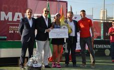 María José Luque ganó a la tercera