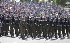 Más de mil alumnos participan este sábado en el Cefot de Cáceres en el acto de jura de bandera