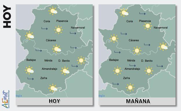 Algunas zonas de la región rozarán hoy y mañana los 36 grados