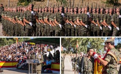 El Cefot de Cáceres vive la jura de bandera más multitudinaria de la última década