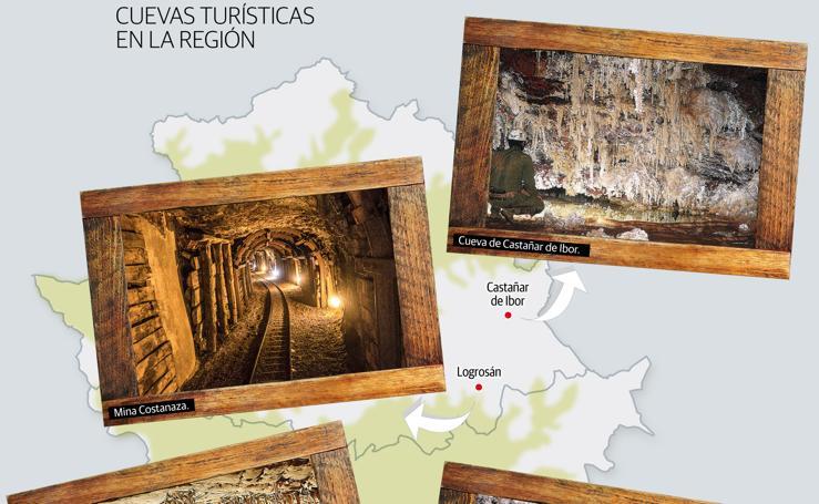 Cuevas turísticas en Extremadura