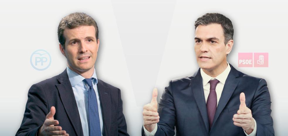 Sánchez y Casado se reúnen el jueves en la Moncloa