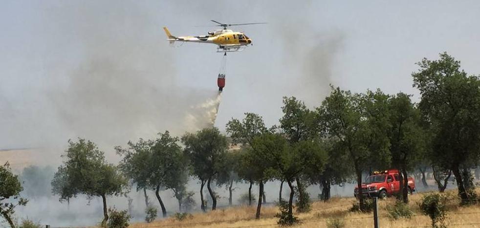 El Infoex controla un incendio en Santa Marta de los Barros