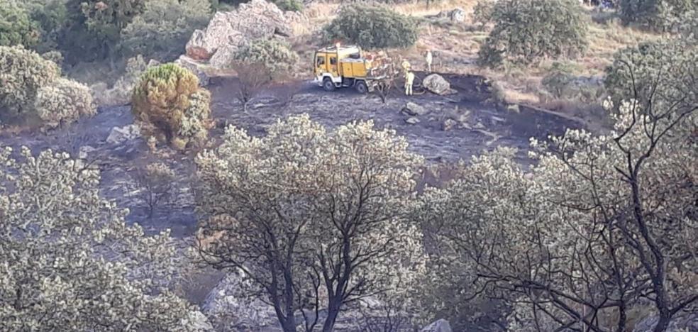 El Infoex ataja dos incendios en menos de doce horas en Jerez de los Caballeros