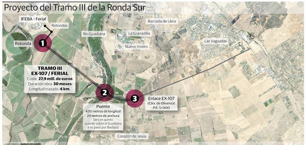 Comienzan los trabajos para construir el quinto puente de Badajoz, que se inaugurará en 2021