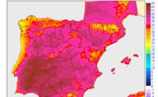 Badajoz encabeza este lunes las localidades con mayor temperatura de España