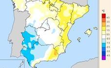 Las temperaturas de julio en Extremadura registran una anomalía de entre -1 y -2 grados