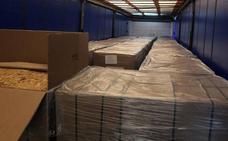 Incautan 20 toneladas de picadura de tabaco que iban a ser distribuidas por Extremadura y Andalucía