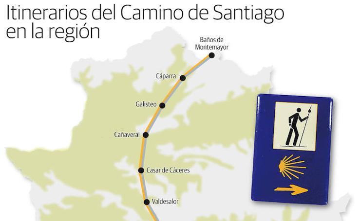 Itinerarios del Camino de Santago en Extremadura
