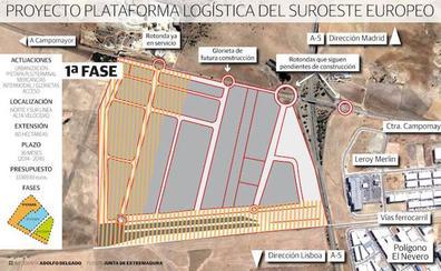 La Plataforma Logística de Badajoz ya está conectada a la carretera de Campomayor