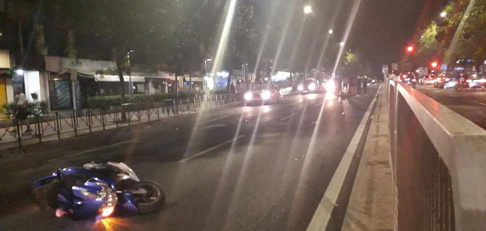 El conductor del coche que impactó contra una moto el domingo en Cáceres se dio a la fuga