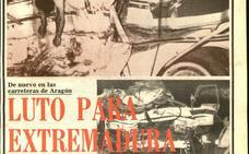 HOY lo contó el 14 de agosto de 1974: 'Luto en Extremadura por el fallecimiento de nueve extremeños en un accidente en Zaragoza'