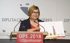 La Diputación de Cáceres sacará a concurso 91 plazas, la mayor oferta de empleo de su historia