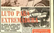 Nueve extremeños pierden la vida en un accidente de tráfico en Zaragoza