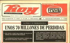 El conflicto de la pera genera 70 millones de pesetas en pérdidas
