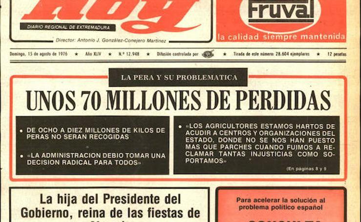 HOY LO CONTÓ EL 15 DE AGOSTO de 1976