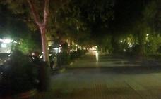 Apagón en la Avenida de España de Cáceres