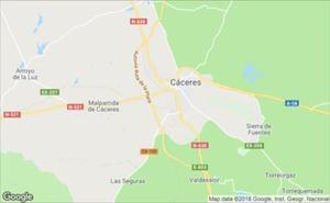 Herido grave al caer de su bicicleta en la N-630, en Cáceres