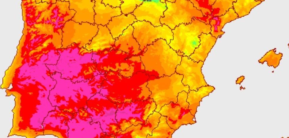 Extremadura registra 8 de las 10 temperaturas más altas de España a medianoche