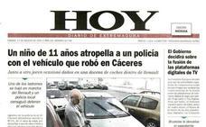 Un niño de once años roba un coche y atropella a un policía