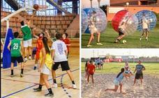El fútbol burbuja arrasa en la Granadilla de Badajoz