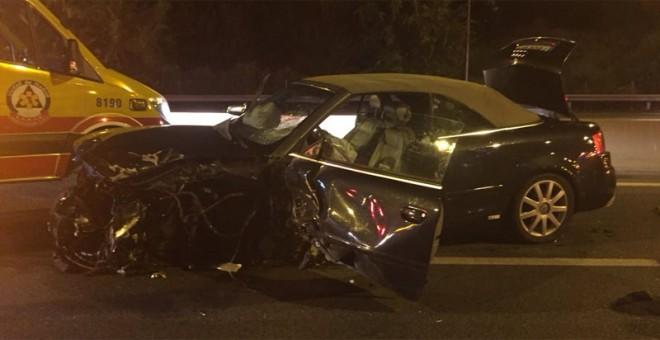 Un conductor 'kamikaze' deja ocho heridos en un accidente en Madrid