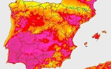 Badajoz marca la temperatura máxima de España a medianoche, 29.2 grados