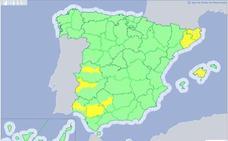 Alerta amarilla en las Vegas del Guadiana y del Tajo y Alagón por altas temperaturas