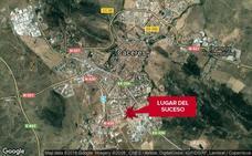 Herido un motorista en Cáceres al chocar con un coche
