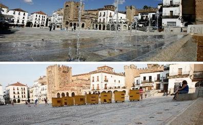 Reparar las fuentes de la Plaza Mayor de Cáceres cuesta 122.000 euros