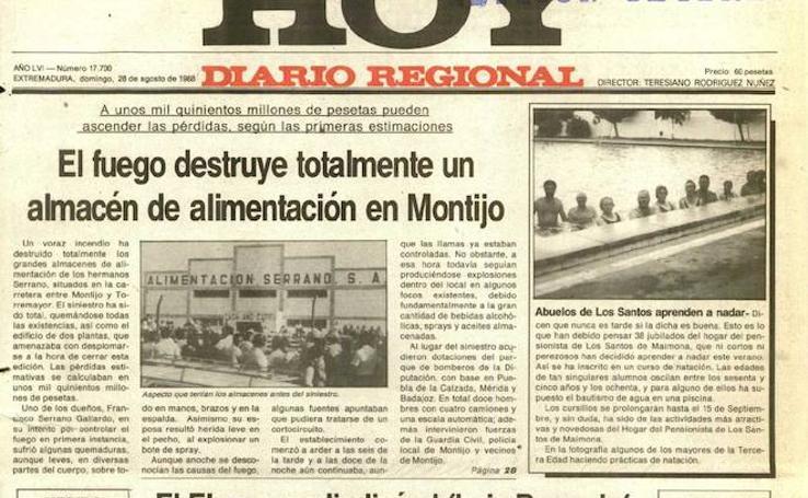 HOY LO CONTÓ UN 28 DE AGOSTO