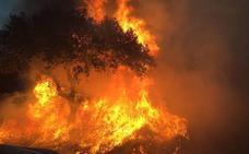 Un incendio afecta al paraje de San Isidro, en Badajoz