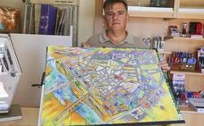 El artista Joaquín Dávila trabaja para volver a editar un mapa callejero de Mérida pintado