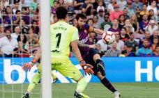 Escandalosa goleada al Huesca para alcanzar el liderato