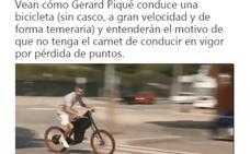 Piqué se pasa a la bicicleta eléctrica