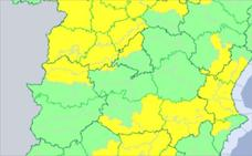 Media provincia de Cáceres estará mañana en alerta por lluvias y tormentas