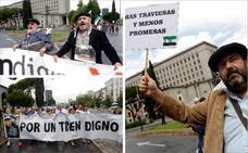 Centenares de extremeños exigen en Madrid un «tren digno»
