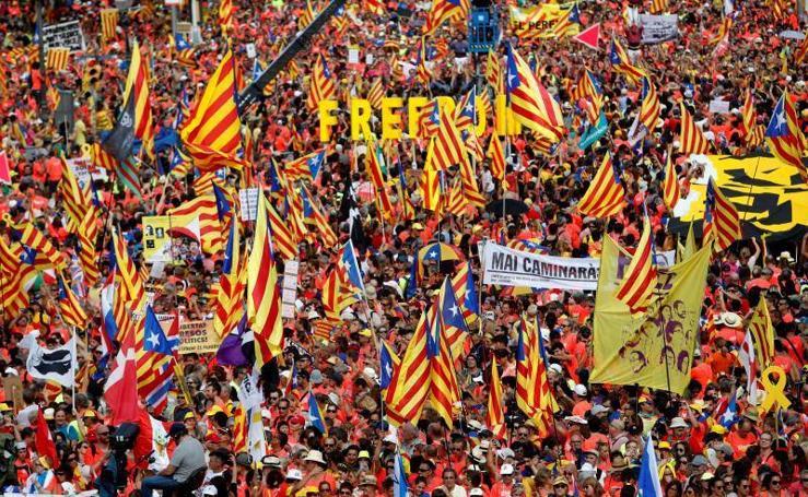 El independentismo vuelve a tomar las calles de Cataluña con motivo de la Diada