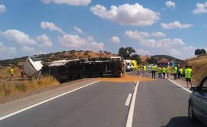 Un muerto y un herido grave en la colisión frontal de un coche y un camión en la N-432