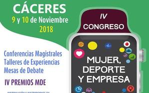 El congreso 'Mujer, Deporte y Empresa' de la FJYD vuelve a Cáceres en su cuarta edición