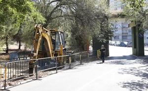 Empiezan las obras de un acceso peatonal en la entrada principal del Parque del Príncipe