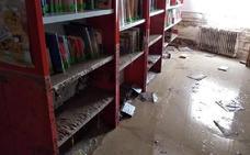 La reconstrucción de la biblioteca de Cebolla servirá para crear un fondo de libros de solidaridad