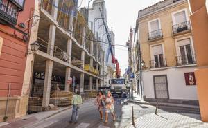 El edificio de las Tres Campanas, en Badajoz, estará en obras antes de que termine el año