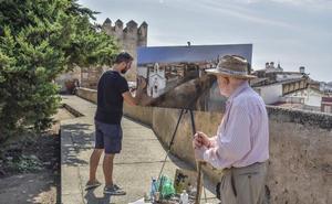 El cordobés Jaime Jurado pinta el mejor cuadro al aire libre en Badajoz
