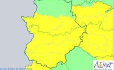 La Aemet amplía la alerta por tormentas en Extremadura