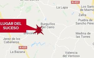 Una mujer de 46 años resulta herida en una salida de vía en Burguillos del Cerro