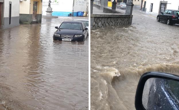 Fuertes aguaceros inundan calles de Quintana, Cabeza del Buey y Almorchón