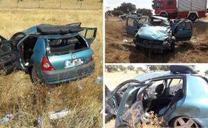 Herida grave tras una salida de vía en la EX-118, a dos kilómetros de Peraleda de la Mata